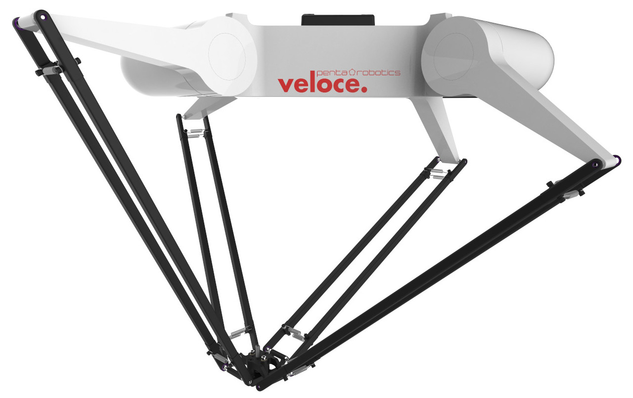 The Veloce four-armed parallel robot developped by Penta Robotics