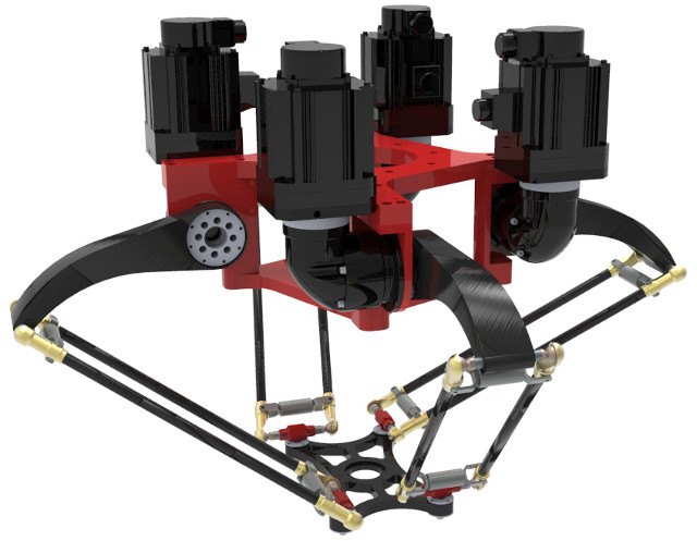 X4 four-armed parallel robot developped at Tsinghua University